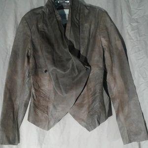 BB Dakota Leather Double Breasted Blazer Jacket